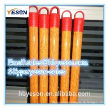pvc coated wooden broom handle thread plastic
