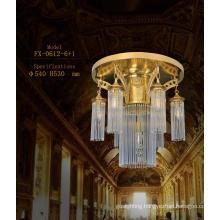 Luxury Chandelier Brass Ceiling Lights (FX-0612-6+1)