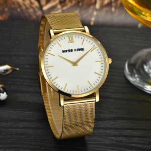 luxe japan movt gold acier inoxydable homme affaires montre quartz