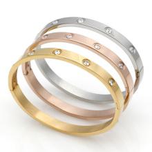 18K or plaqué Fashion marque bijoux amour Carter Bracelets Bangles 316 Couple Bracelet en titane