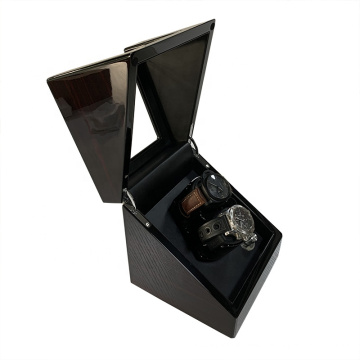 Best 2+0 Black Gloss Lacquer Wooden Dual Automatic Watch Winder 2020