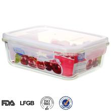 EASYLOCK Mikrowelle Glas Vakuum Lebensmittelbehälter mit Deckel 1600ml