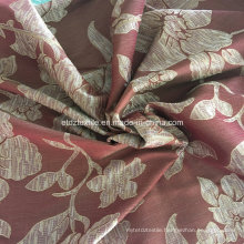 Attractive Regal Red Stria Flower Curtain Fabric