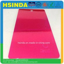 Быстрая доставка Яркая эпоксидная полиэфирная конфета Розовое порошковое покрытие