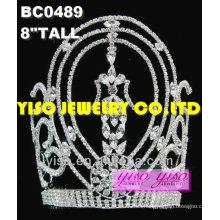 Coronas del desfile de la belleza rhinestone