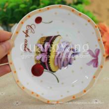 Sistemas disponibles de la cena de cerámica esmaltada de la porcelana de alta calidad diferentes de la forma disponible