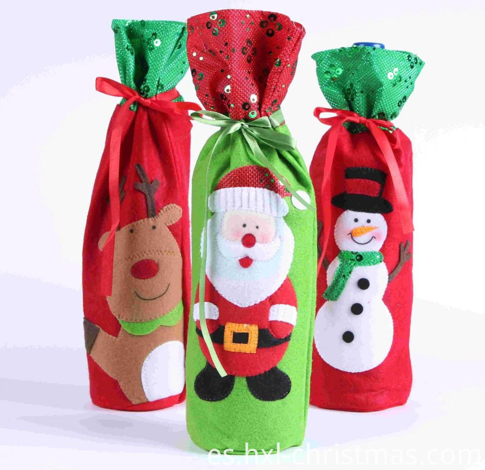 Xmas Decor Wine Bottle Clothes