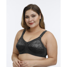In-stock plus size full cup transparent lace bra