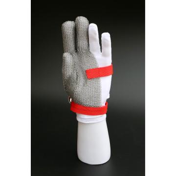Schneidehandschuhe aus Edelstahl mit drei Fingern