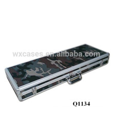 new arrival military aluminum gun case with foam inside manufacturer high quality