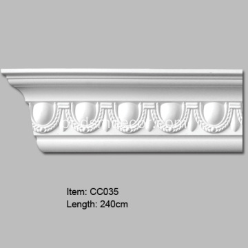 Egg and Dart Design Polyurethane Cornice Molding