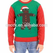 15CSU083 Biscuit Ninja Motif Christmas Sweater Holiday Sweater