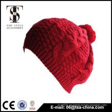 Color rojo classcal stlye Señora belleza tipos sombrero de invierno