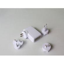 5ports cargador USB para móviles, US EUR AU UK TW JP option