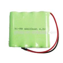 Batterie rechargeable 4,8 V Batterie rechargeable NiMH aa