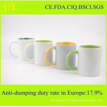 11oz Top Grade Sublimation Inner & Handle Color Coated Mug on Sale
