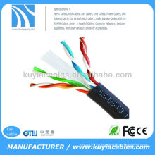 1000 'Ft Bulk 24 AWG Твист пара Твердый сетевой Ethernet cat6 utp lan кабель для 10m / 100m / 1000m