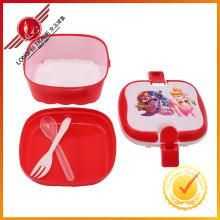 Caixa de almoço de forma quadrada venda quente para Childern