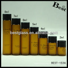 2ml/3ml/4ml/5ml/6ml/7ml/8ml round screw amber bottle,new style round screw amber bottle,round screw amber bottle with printing