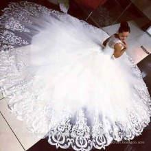 Vente chaude vestidos de novia Robes de mariée de plage Robe de mariée en dentelle puffée 2016 CWFw2380