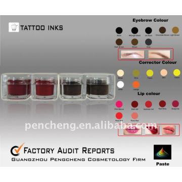 Sobrancelha Tatuagem Ink & Permanent makeup Pigment Supply (paste)