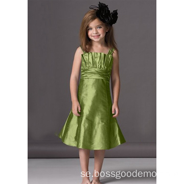 A-line Scalloped halsband Flower Girl Dress