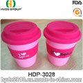 Reusable Travel Mug Travel Coffee Mug with Silicon Lid and Band (HDP-3028)
