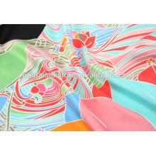 2014 tela de satén de seda impresa digital de alta calidad en china