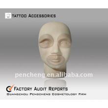 3D-Estéreo tatuaje práctica cabeza-labios ceja Práctica Dermis Fake Skin
