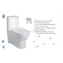 CB-9058 high quality CUPC certificated one piece ceramic CSA chinese toilet