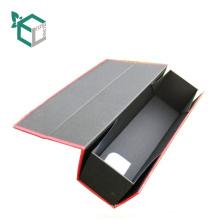 OEM Top Qualität CMYK Druck Farbe Papier Wein Faltschachtel Mit Einsatz