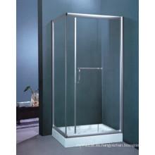 Marco de acero inoxidable de 8 mm de vidrio templado recinto de ducha (h003b)