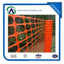 Niedriger Preis Orange Farbe Kunststoff Sicherheitszaun Heißer Verkauf