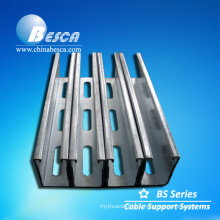 Iron black Plain Steel back to back Strut Channel without holes