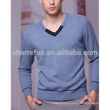 100% кашемир синий цвет свитер для мужчины