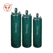 Cilindro de gas de cloro líquido de acero soldado