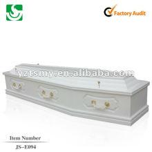 mais barato chinês caixão madeira sólida JS-E094