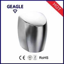 Liga de alumínio, revestimento do cromo, interruptor do botão dentro, secadores de mão de alta velocidade com CE & certificado de RoHS ZY-208A