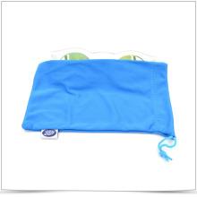 Blue Microfiber Single Sied Pull Sunglasses Pouch
