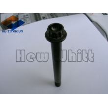 high end black titanium 12 point flanged bolt