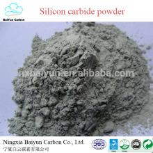 polvo de carburo de silicio 98.5% Carburo de silicio verde / negro para abrasivos y refractarios