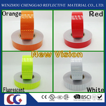 New Vision PVC Conspicuity Reflective Tape with Crystal Lattice Film for Many Colors