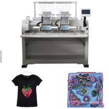 QS-1202J Single Head Computerized Embroidery Machine Dahao Computer for T shirt logo label Gold embroidery