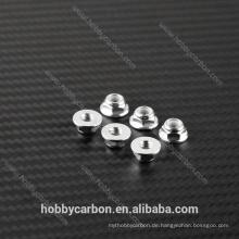 Prop fasteners M5 Aluminium Sechskantmuttern, Aluminium Flanschmuttern