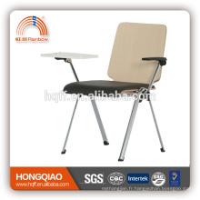 CV-B191BS-3 siège en métal chromé siège PU chaise d'école avec l'écriture en nylon accoudoir
