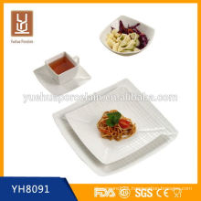 hign quality square shape poland porcelain dinnerware set
