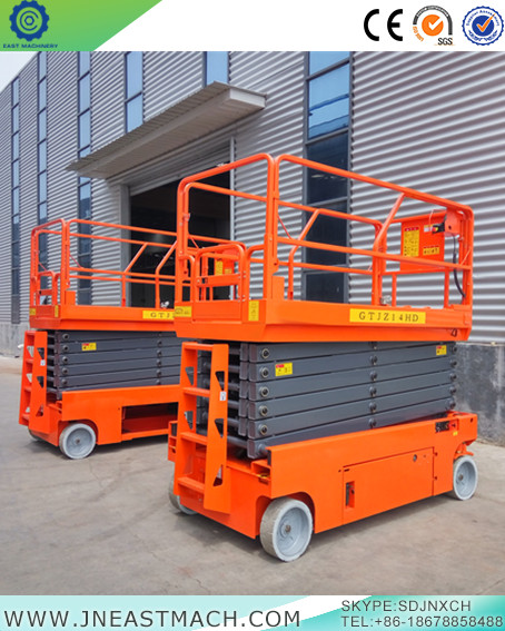 France Self Propelled Scissor Lift Hydraulic Self Moving Scissor Lift With Ce