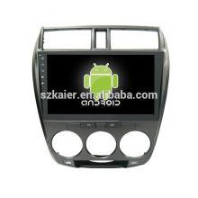 Quad core! Android 6.0 dvd de voiture pour CITY avec écran capacitif de 10,1 pouces / GPS / lien miroir / DVR / TPMS / OBD2 / WIFI / 4G