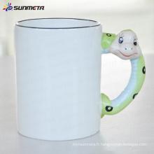 Sublimation tasse blanche animée serpent