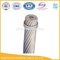 Alambre de aluminio del conductor de ACSR Cable de CA desnudo reforzado acero del conductor GOST 839-80